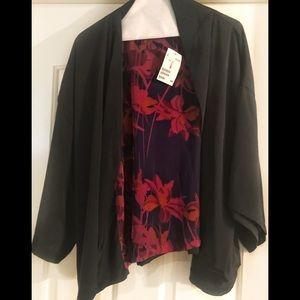 NWT H&M Black Kimono